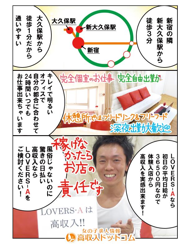 求人マンガ(LOVERS-A(ラバーズエー)、新宿/歌舞伎町、チャットレディ)の2枚目