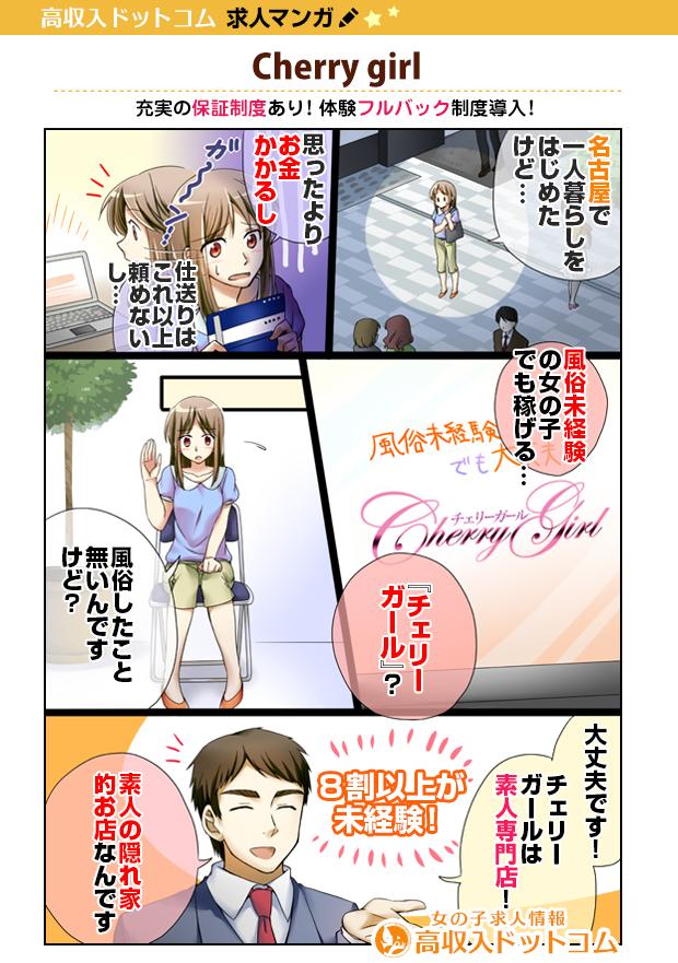 求人マンガ(Cherry girl、新栄/東新町、デリバリーヘルス)の1枚目