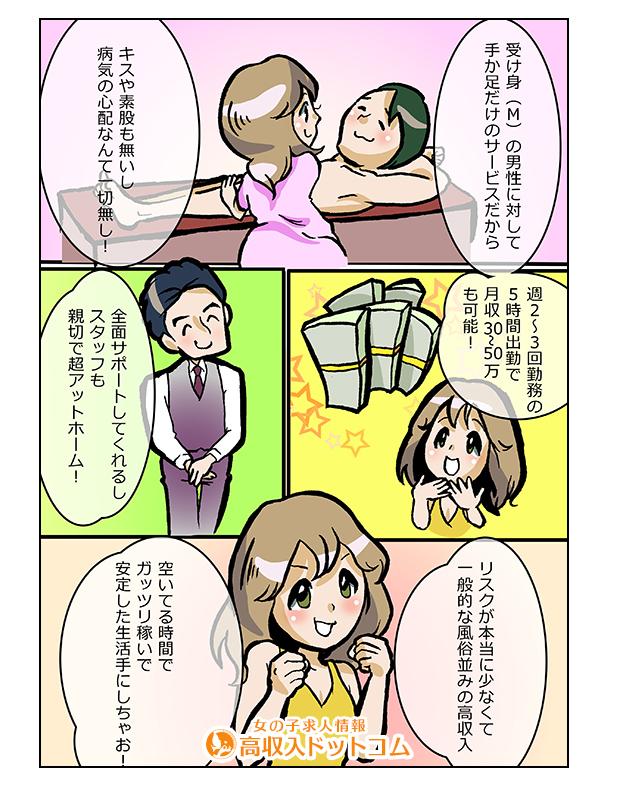 求人マンガ(cunni need you、京都市、M性感)の2枚目